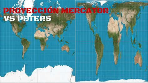 MAPA MERCATOR vs MAPA PETERS, GEOGRAFÍA REAL.   YouTube