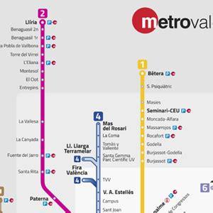 Mapa Metro Valencia 2015 | Mapa
