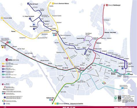 Mapa Metro Valencia