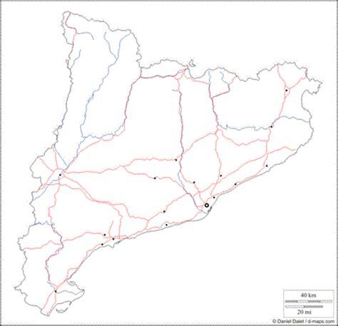 Mapa Mudo Rios Catalunya