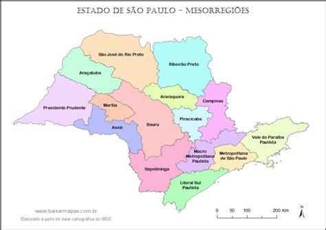 Mapa Mundi: Mapa de São Paulo para Trabalhos e Tarefas ...