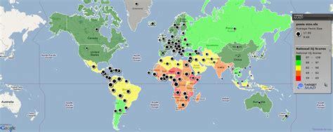 Mapa Mundial: Relación IQ/Tamaño del Pene | Ciencia Al Dia