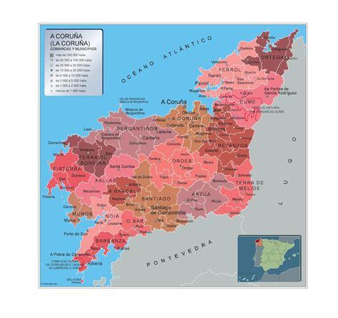 Mapa Municipios A Coruna   A vector eps maps designed by ...