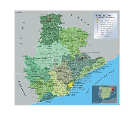 Mapa Municipios Barcelona   Netmaps. Mapas de España y del ...