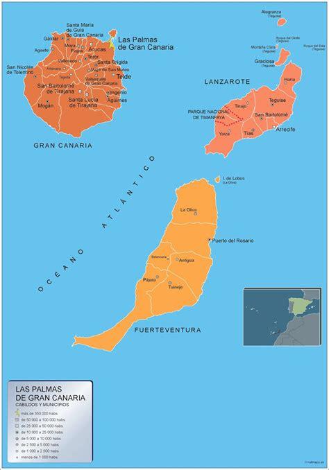Mapa Municipios Las Palmas Gran Canaria