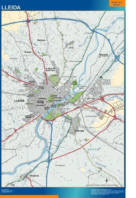 Mapa mural accesos Lleida | Envío mapas gratis en España ...
