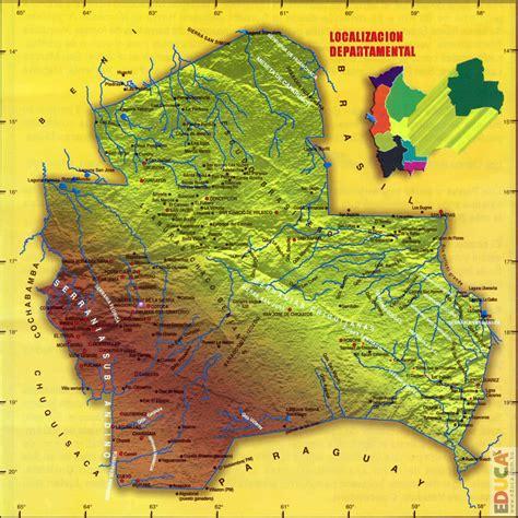 Mapa orográfico de Santa Cruz | Departamento de Santa Cruz ...