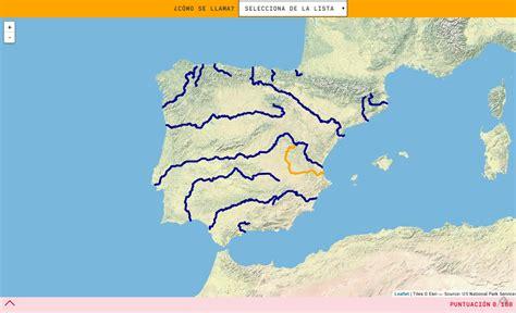 Mapa para jugar. ¿Cómo se llama? Ríos de España   Mapas ...