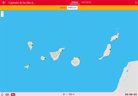 Mapa para jugar. ¿Dónde está? Capitales de las islas de ...