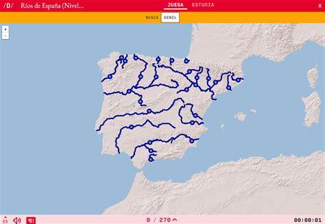 Mapa para jugar. ¿Dónde está? Ríos de España  Nivel Medio ...