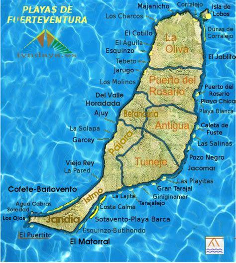 Mapa Playas Fuerteventura | Mapa