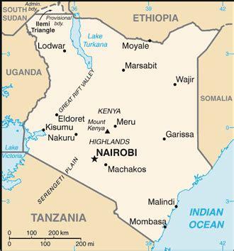 Mapa política Kenia
