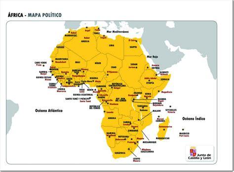Mapa político de África Mapa de países y capitales de ...