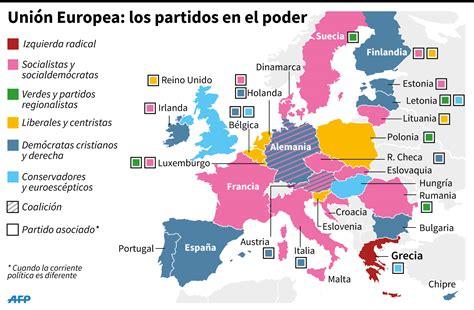 Mapa político de la Unión Europea tras las elecciones ...