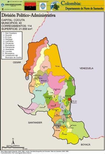 Mapa político del Departamento de Norte De Santander ...