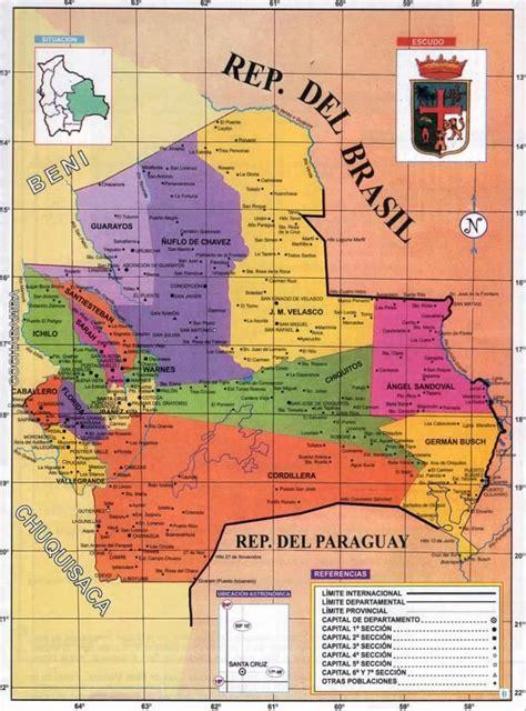 Mapa Político del Departamento de Santa Cruz   Mapas de ...