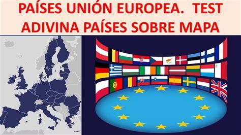 Mapa político Unión Europea. Test países Europa   YouTube