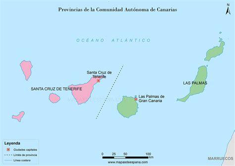 Mapa provincias de las Islas Canarias