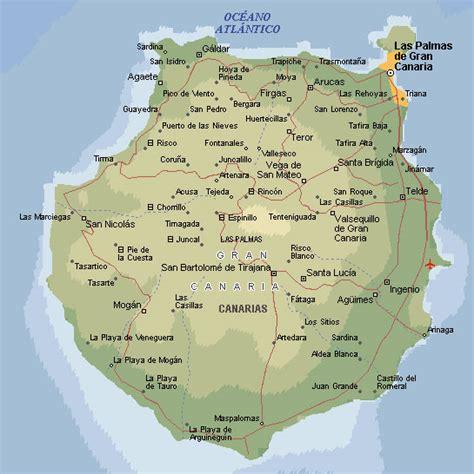 Mapa Teneryfa Gran Canaria