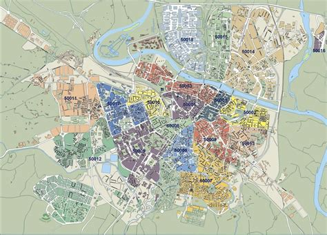 Mapa Zaragoza Vectorial. Formatos Vector Freehand ...