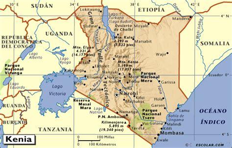 Mapas de Escolar.com   Mapa de Kenia