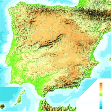 Mapas físicos de España – La clase de Raúl – Salesianos ...