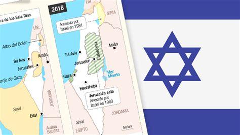 Mapas: La evolución geográfica del Estado de Israel a 70 ...