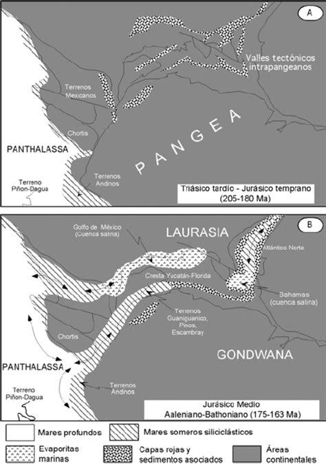 Mapas paleogeográficos del Triásico Tardío al Jurásico ...