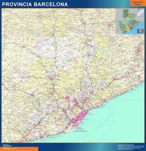 Mapas Provincia Barcelona en Cataluña   Tienda Mapas