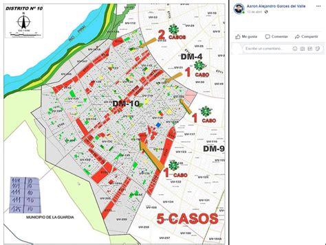 Mapas que señalan barrios cruceños con casos de COVID 19 ...