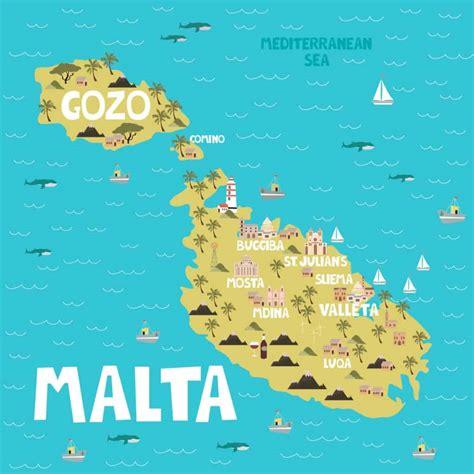Mapas y geografía de la isla y país de Malta  Europa  2021
