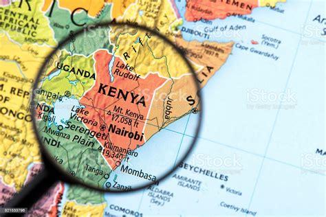 Mappa Del Kenya   Fotografie stock e altre immagini di ...