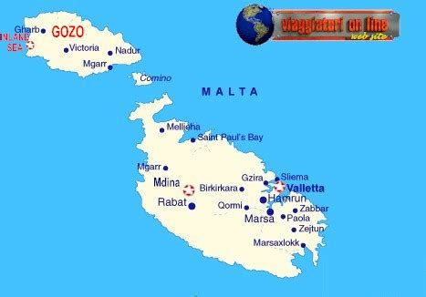 Mappa geografica Malta