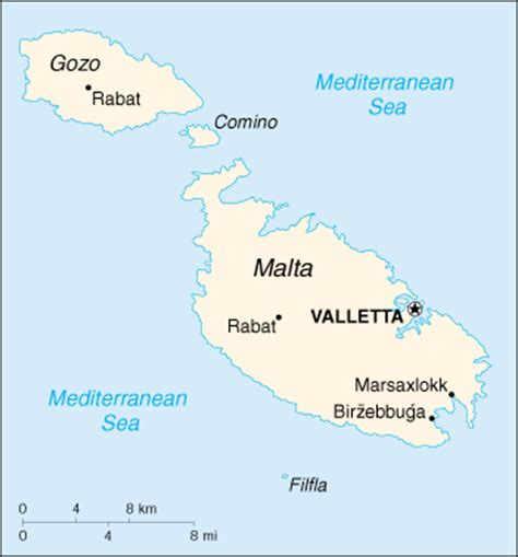 Mappa Malta   cartina geografica e risorse utili ...