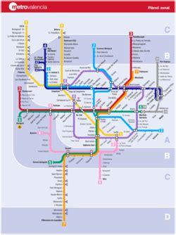 Mappa Metropolitana Valencia Spagna