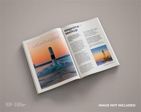 Maqueta de revista abierta | Archivo PSD Premium