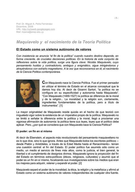 Maquiavelo y el nacimiento de la Teoría Política
