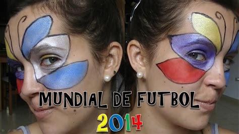 Maquillaje ARTÍSTICO MUNDIAL DE FUTBOL 2014 ...