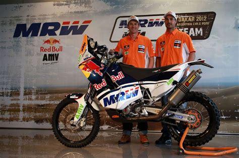 Marc Coma presenta su equipo para el Rally Dakar 2012