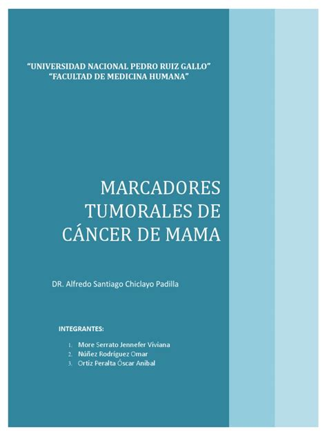 MARCADORES TUMORALES  informe .docx | Inmunofluorescencia ...
