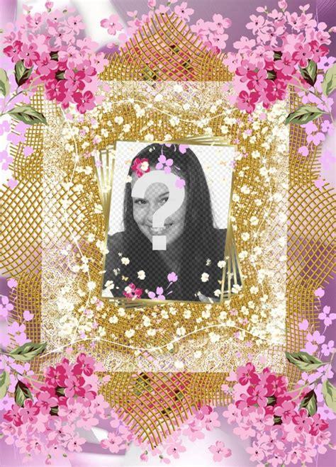 Marco con muchas flores para decorar tus fotos online ...