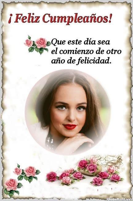 Marco de Feliz Cumpleaños con rosas | Marcos para Fotos Gratis