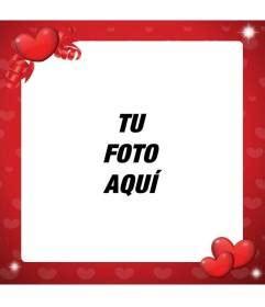 Marco para decorar fotos de amor de color rojo y con ...