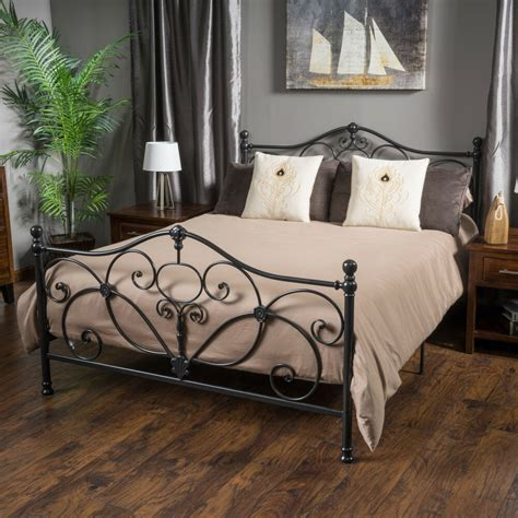 Marcus King size Metal Bed Frame by Christopher Knight ...