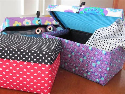 mariagujas: Cajas decoradas....con lindas telas,,,,,listas ...