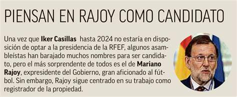 Mariano Rajoy, posible candidato a la presidencia de la ...
