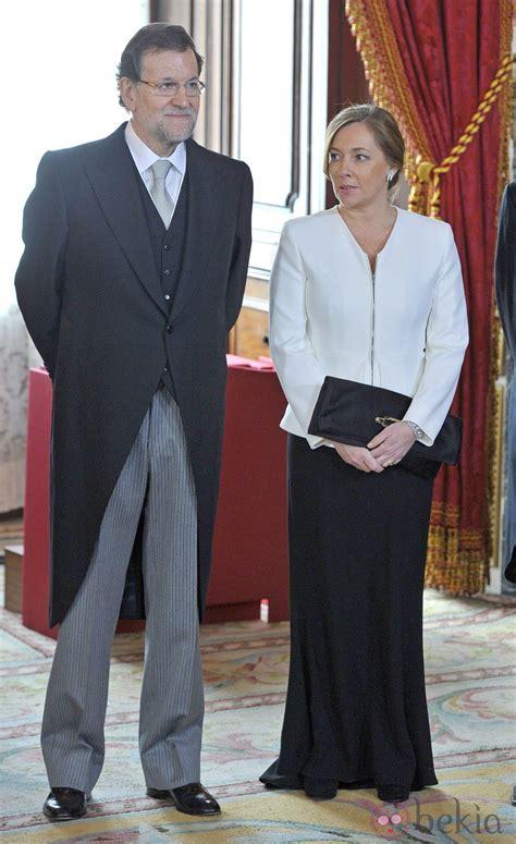 Mariano Rajoy y Elvira Fernández Balboa en la recepción al ...