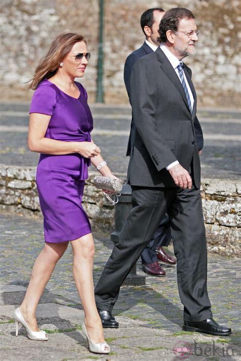 Mariano Rajoy y Elvira Fernández en la boda del hijo de ...