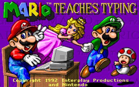 Mario Teaches Typing Download  1992 Educational Game