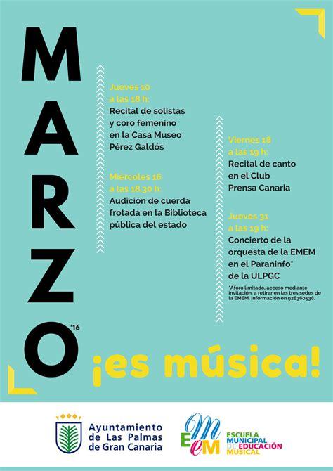 Marzo, ¡es música! : programa de conciertos de la Escuela ...